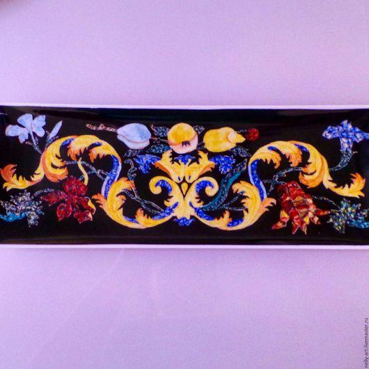 Декоративная посуда ручной работы. Ярмарка Мастеров - ручная работа. Купить Флорентийская мозаика на фарфоре. Handmade. Любимой, ручная работа