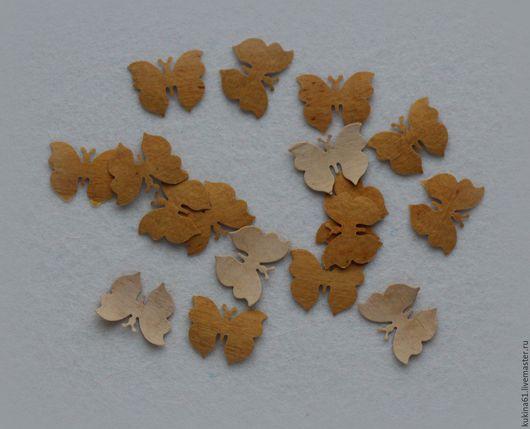 Открытки и скрапбукинг ручной работы. Ярмарка Мастеров - ручная работа. Купить бабочка маленькая. Handmade. Бежевый, береста, бабочка, Вырубка
