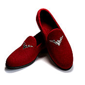 Обувь ручной работы handmade. Livemaster - original item Felted shoes Evening in Bordeaux. Handmade.
