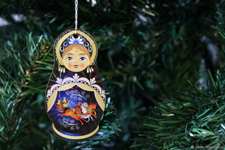 Новогодняя игрушка на елку. Матрешка, Елочные игрушки, Шахты,  Фото №1