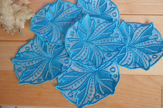 Текстиль, ковры ручной работы. Ярмарка Мастеров - ручная работа. Купить Набор салфеток под бокалы. Handmade. Голубой
