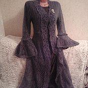 Одежда handmade. Livemaster - original item Openwork cardigan-dress