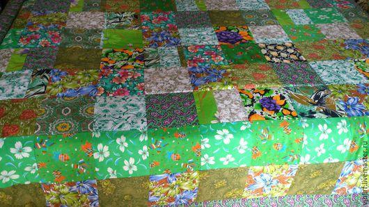 Текстиль, ковры ручной работы. Ярмарка Мастеров - ручная работа. Купить Покрывало пестрое 4. Handmade. Покрывало лоскутное