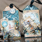 Открытки handmade. Livemaster - original item Nautical postcard tag. Handmade.