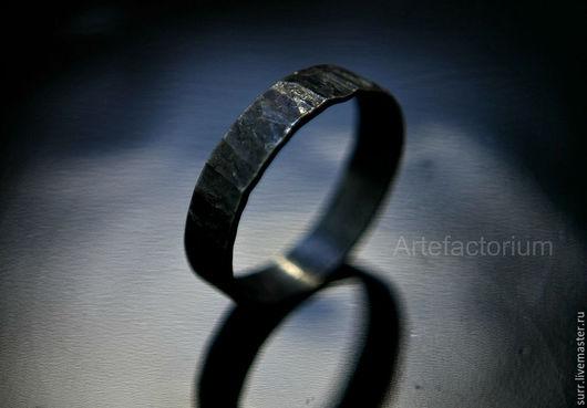 Кольца ручной работы. Ярмарка Мастеров - ручная работа. Купить Кованое кольцо  № 102. Handmade. Темно-серый
