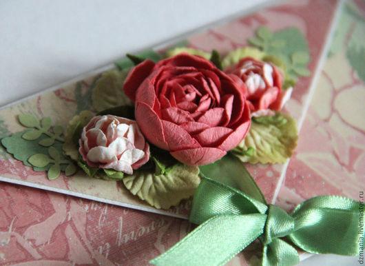 """Конверты для денег ручной работы. Ярмарка Мастеров - ручная работа. Купить конверт для денег """"Весенний сад"""". Handmade. Розовый"""