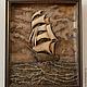 """Пейзаж ручной работы. Ярмарка Мастеров - ручная работа. Купить Морской пейзаж -  """"Возвращение"""". Handmade. Для дома и интерьера, подарок"""