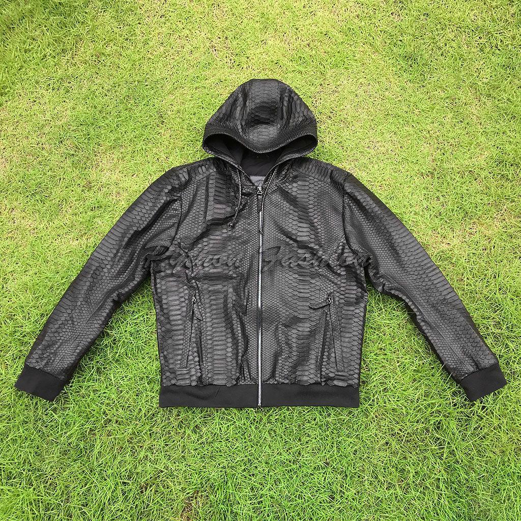 Men's python jacket with MARCO hood, Mens outerwear, Kuta,  Фото №1