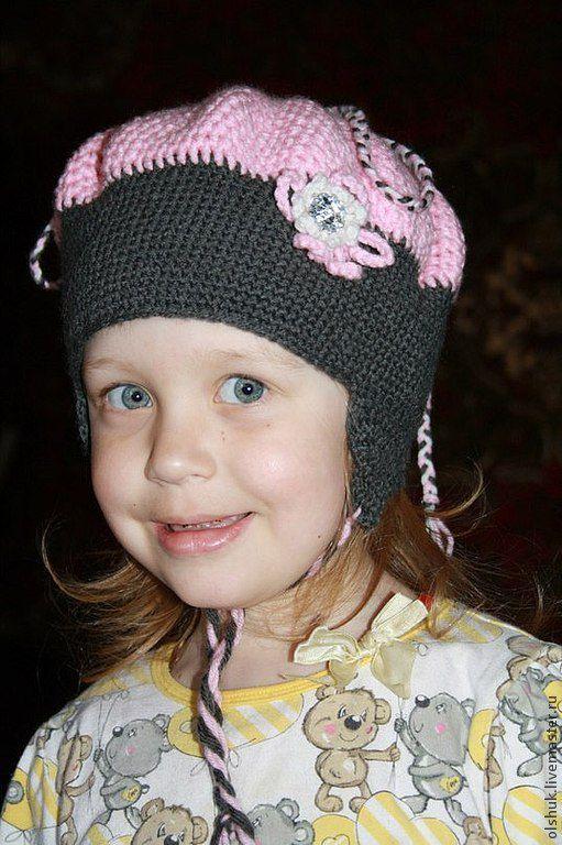 Шапки и шарфы ручной работы. Ярмарка Мастеров - ручная работа. Купить Шапка для девочки (весна-осень). Handmade. Розовый, двухцветный