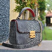 Сумки и аксессуары handmade. Livemaster - original item Funny Python leather handbag. Handmade.