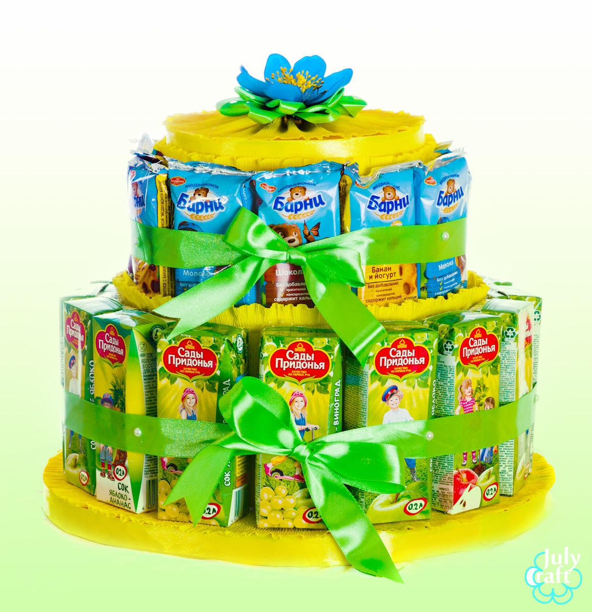 Торт из сока и конфет своими руками пошагово