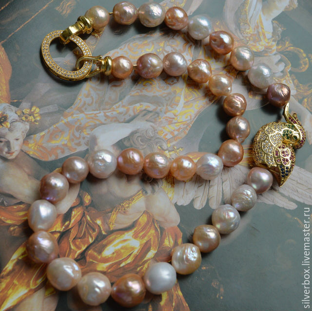 Copy of Copy of Pearl Necklace Kasumi lyke KOMPLEMENT Handmade, Necklace, Moscow,  Фото №1