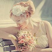 Свадебный салон ручной работы. Ярмарка Мастеров - ручная работа Вуалетка «Софи». Handmade.
