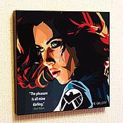 Подарки к праздникам handmade. Livemaster - original item Picture poster Black Widow Pop Art. Handmade.