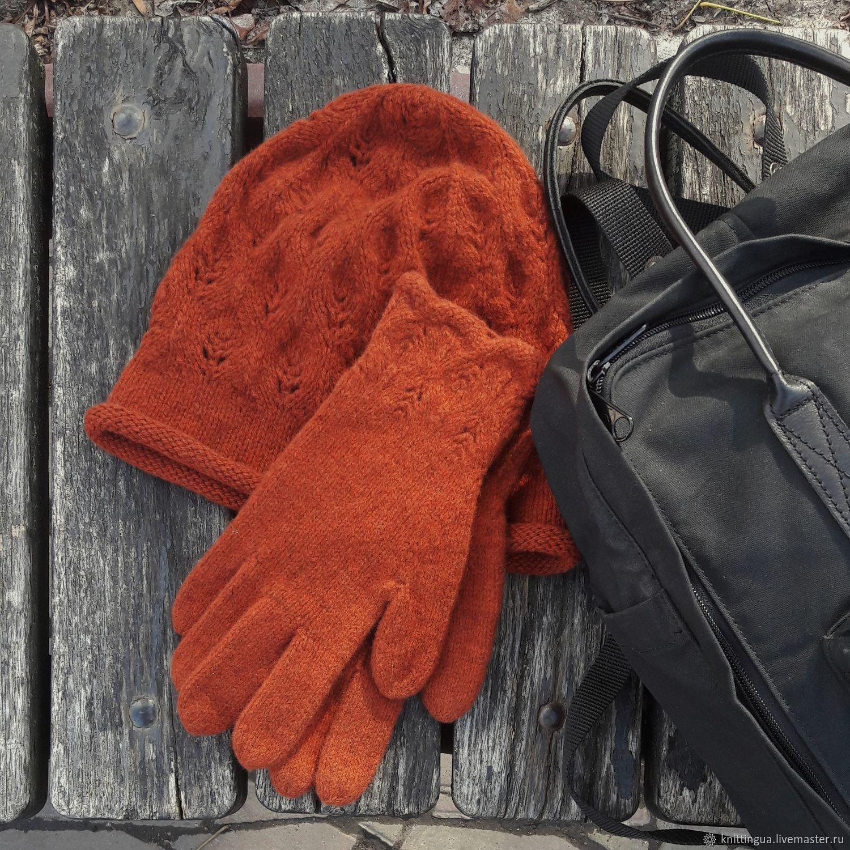 Вязаный комплект- шапочка и перчатки, Комплекты головных уборов, Винница,  Фото №1