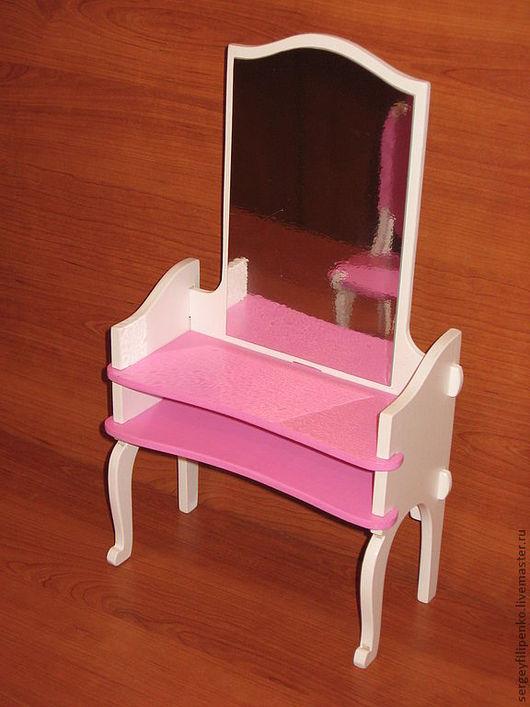 Кукольный дом ручной работы. Ярмарка Мастеров - ручная работа. Купить кукольное трюмо. Handmade. Кукольная мебель, подарок для девочки