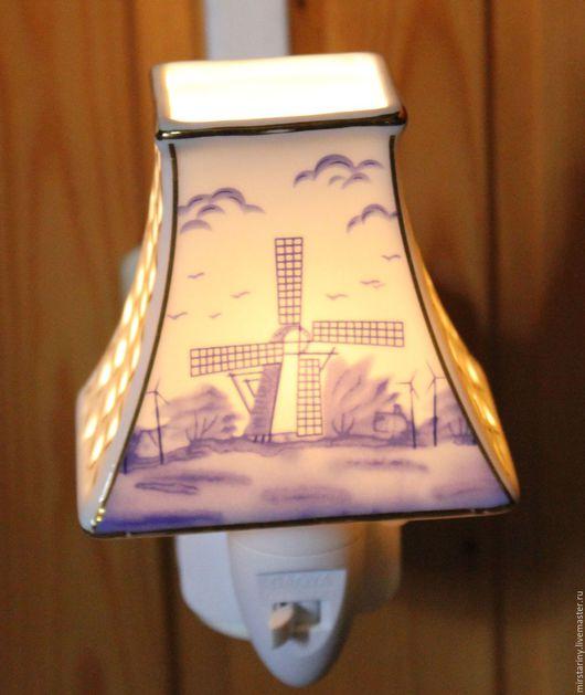 Винтажные предметы интерьера. Ярмарка Мастеров - ручная работа. Купить Два красивых фарфоровых ночника для спальни или детской комнаты. Handmade.