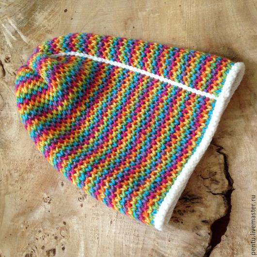 Шапки ручной работы. Ярмарка Мастеров - ручная работа. Купить Шапка-носок Rainbow. Handmade. Шапка носок, разноцветный, красный