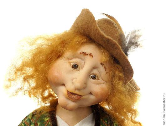 Коллекционные куклы ручной работы. Ярмарка Мастеров - ручная работа. Купить Кукла Лепрекон-ирландский кладоискатель и найденный  им ларец. Handmade.