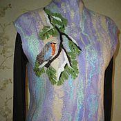"""Одежда ручной работы. Ярмарка Мастеров - ручная работа Жилет """" Зимняя пташка"""". Handmade."""