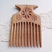 Сувениры и подарки ручной работы. Ярмарка Мастеров - ручная работа Гребень Ладинец, деревянный резной из бука. Handmade.