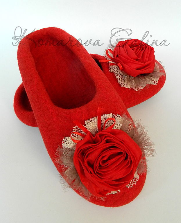 women's felted Slippers 'Rapture', Slippers, Moscow,  Фото №1
