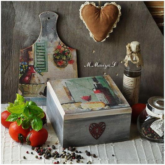 """Кухня ручной работы. Ярмарка Мастеров - ручная работа. Купить Набор """"Caprese"""": короб и разделочная доска. Handmade. Короб"""