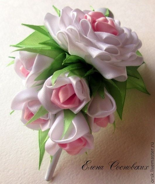 """Заколки ручной работы. Ярмарка Мастеров - ручная работа. Купить Зажим """"Чувственная роза"""". Handmade. Белый, нежное украшение"""