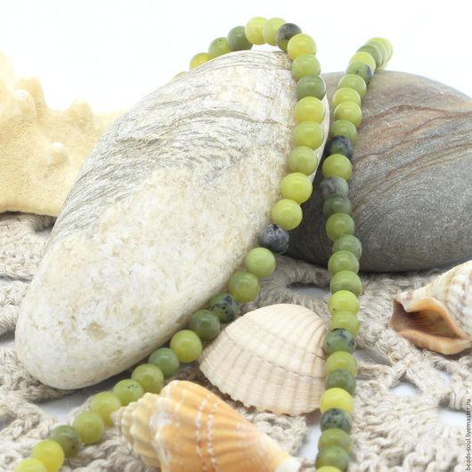 Для украшений ручной работы. Ярмарка Мастеров - ручная работа. Купить Агат зеленый бусины шар 5мм - арт.5-10. Handmade.