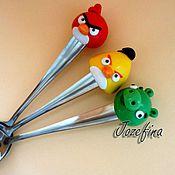 """Подарки к праздникам ручной работы. Ярмарка Мастеров - ручная работа Вкусная ложка """"Angry Birds"""". Handmade."""