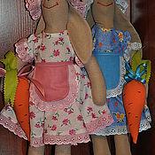 Куклы и игрушки ручной работы. Ярмарка Мастеров - ручная работа Зайки огородницы.. Handmade.