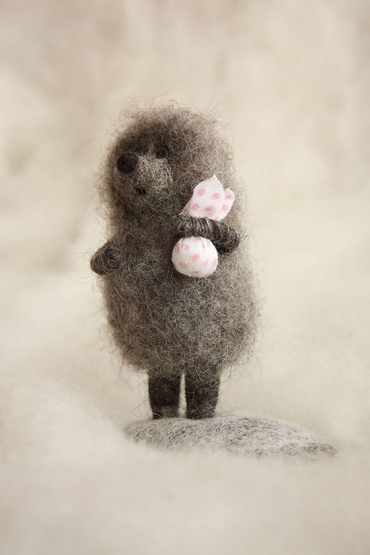 "Fairy-Tale Dolls handmade. Livemaster - handmade. Buy ""Hedgehog in the fog"".Polka dot, cartoon characters"