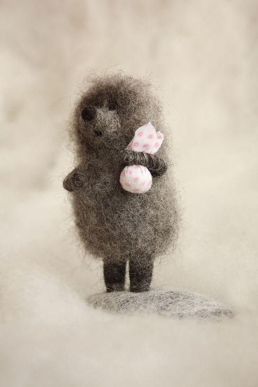 """Сказочные персонажи ручной работы. Ярмарка Мастеров - ручная работа. Купить """"Ёжик в тумане"""".. Handmade. Персонажи мультфильмов, горошек"""