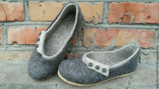 Обувь ручной работы. Ярмарка Мастеров - ручная работа. Купить Валяные домашние тапочки. Handmade. Валяные тапочки, шерсть овечья
