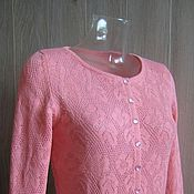 """Одежда ручной работы. Ярмарка Мастеров - ручная работа Вязаный жакет """"Розовые цветы"""". Handmade."""