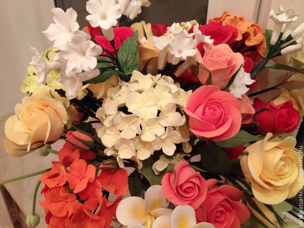 Букет цветов с именем