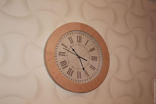 Часы для дома ручной работы. Ярмарка Мастеров - ручная работа. Купить Настенные деревянные часы бук классические со стеклом. Handmade.