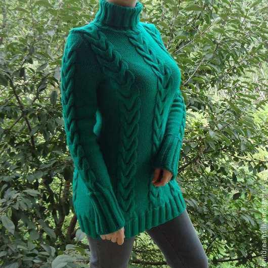 """Кофты и свитера ручной работы. Ярмарка Мастеров - ручная работа. Купить Свитер """"Alesandra"""". Handmade. Зеленый, заказать свитер"""
