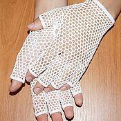 Аксессуары handmade. Livemaster - original item Openwork, summer mittens-gloves. Cotton mesh mitts.. Handmade.