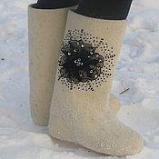 """Обувь ручной работы. Ярмарка Мастеров - ручная работа Валенки """"Ночное сияние"""". Handmade."""