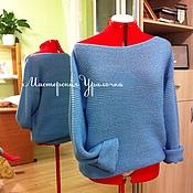 Одежда ручной работы. Ярмарка Мастеров - ручная работа Пуловер вязаный с длинным рукавом. Handmade.