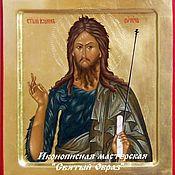 handmade. Livemaster - original item Icon of John the Baptist, John the Baptist, John the Baptist icon, Golden. Handmade.