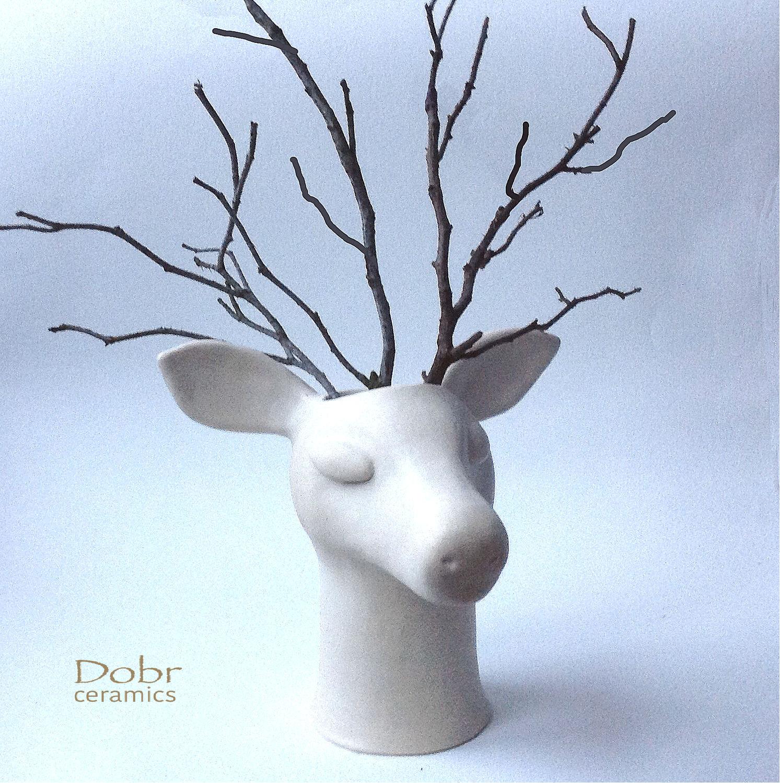 """Ваза""""Лесной олень"""". Керамика"""