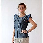 Одежда ручной работы. Ярмарка Мастеров - ручная работа Блузка БЛ-0003. Handmade.