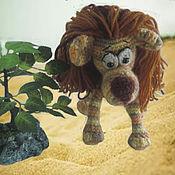 Куклы и игрушки ручной работы. Ярмарка Мастеров - ручная работа Лев - царь зверей. Handmade.