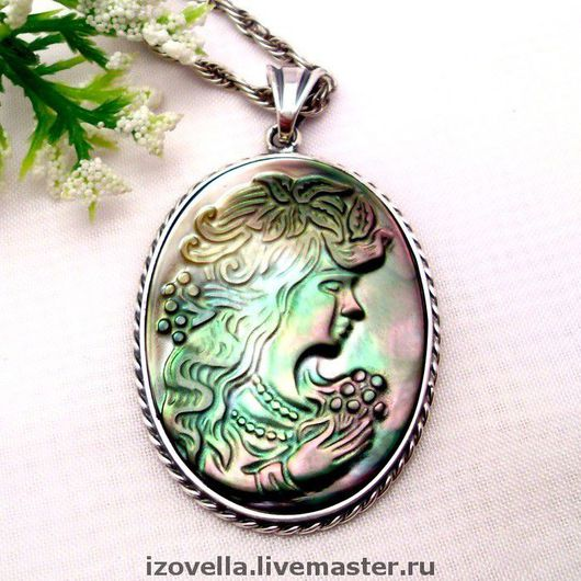 Pendants handmade. Livemaster - handmade. Buy Cameo pendant - 925 sterling silver.925 sterling silver, antique silver