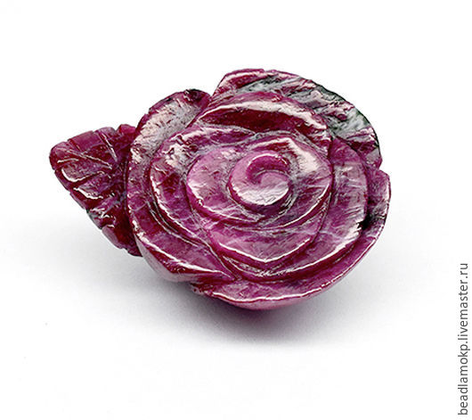 Для украшений ручной работы. Ярмарка Мастеров - ручная работа. Купить Кабошон Роза рубин в цоизите. Handmade. Комбинированный