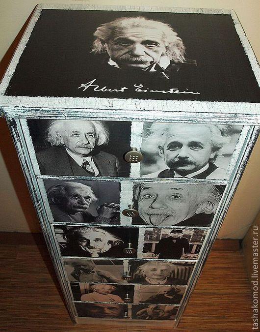"""Мебель ручной работы. Ярмарка Мастеров - ручная работа. Купить Комод-тумба """"Эйнштейн!"""". Handmade. Чёрно-белый, мебель из сосны"""