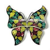 Брошь Бабочка-красавица плечевая