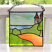Для дома и интерьера handmade. Livemaster - original item Stained glass panels. shore. Handmade.